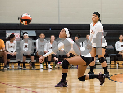 09/27/17  Wesley Bunnell | Staff  Vinal Tech vs E.C. Goodwin girls volleyball on Wednesday afternoon at E.C. Goodwin High School. Adaneysi Guzman (4).