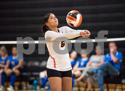 09/27/17  Wesley Bunnell | Staff  Vinal Tech vs E.C. Goodwin girls volleyball on Wednesday afternoon at E.C. Goodwin High School. Tina Rodriguez (6).
