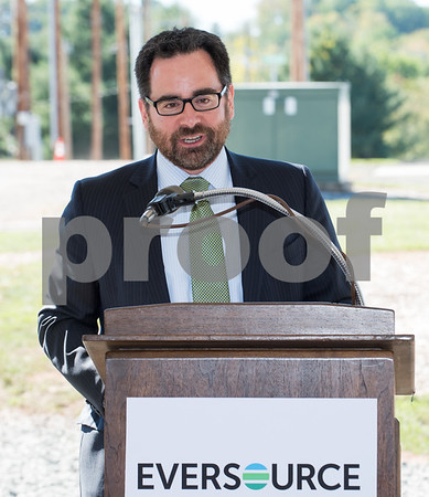 09/28/17 Wesley Bunnell | Staff Eversource held a ribbon cutting and tour of the Eversource Electric and Natural Gas Outdoor Training Complex in Berlin on Thursday morning. CEEP Commissioner Rob Klee.