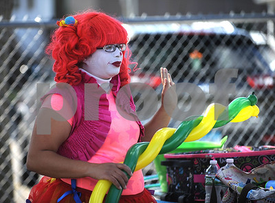 9/16/2017 Mike Orazzi | Staff Candy the Clown during the Immanuel Lutheran Church's German Festival Saturday in Bristol.