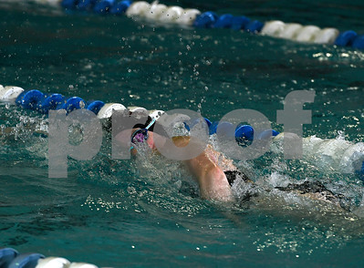 9/19/2017 Mike Orazzi | Staff Bristol Central's Camille Attle during Tuesday's swim meet with Newington in Bristol.