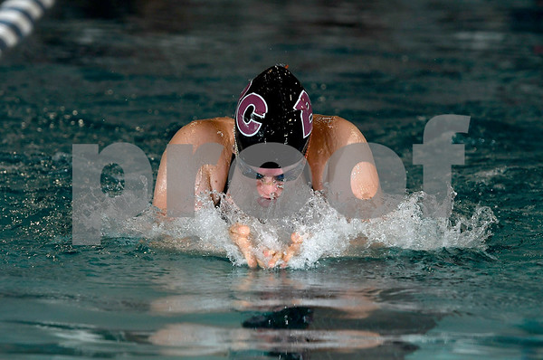 9/19/2017 Mike Orazzi | Staff Bristol Central's Ailey Driscoll during Tuesday's swim meet with Newington in Bristol.
