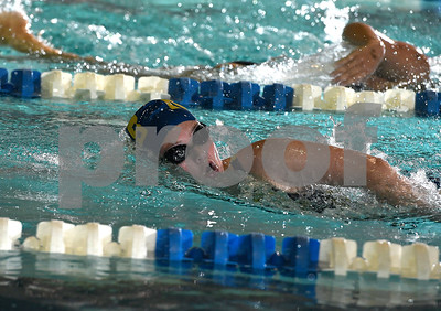 9/19/2017 Mike Orazzi | Staff Newington's Lindsay Weaver during Tuesday's swim meet with Bristol Central in Bristol.