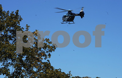 9/23/2017 Mike Orazzi | Staff Yale New Haven's Sky Health Helicopter during the 56th Annual Chrysanthemum Festival on Saturday in Bristol.
