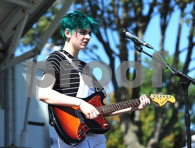 9/23/2017 Mike Orazzi | Staff They & Them Band's Finn Woodruff during the 56th Annual Chrysanthemum Festival on Saturday in Bristol.