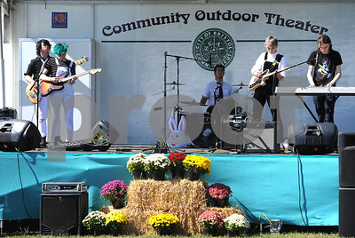 9/23/2017 Mike Orazzi | Staff They & Them Band during the 56th Annual Chrysanthemum Festival on Saturday in Bristol.