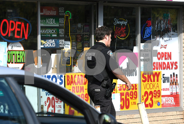 9/26/2017 Mike Orazzi | Staff One person was taken into custody Tuesday afternoon after someone tried to hold up a local liquor store. Police at about 1 p.m. received the report of a possible theft at Wineland, at 1543 Meriden-Waterbury Turnpike. Employees at the store said a lone suspect entered the business and demanded money from the cash register, saying he had a knife on him.