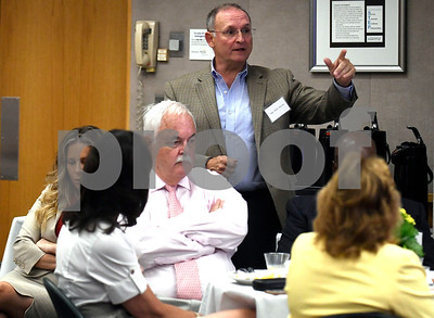 9/7/2017 Mike Orazzi | Staff State Senator Henri Martin during the Bristol Hospital President's Forum Thursday morning.