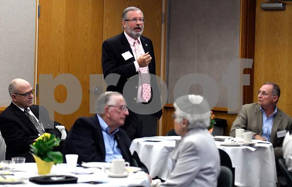 9/7/2017 Mike Orazzi | Staff State Representative Rep. Bill Petit during the Bristol Hospital President's Forum Thursday morning.