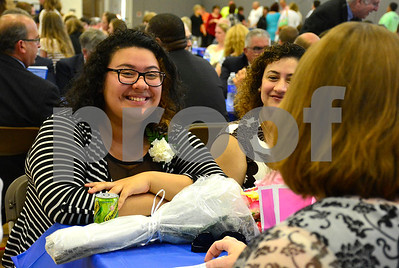 5/19/2015 Mike Orazzi | Staff 2015 Youth of the Year Dyana Tovar during the Bristol Boys & Girls Club's 74 Annual Recognition Dinner inside the Fiondella Field House Wednesday night.