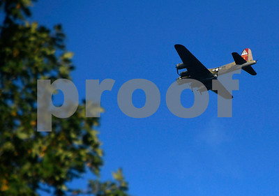 9/9/2017 Mike Orazzi | Staff A Boeing B-17 Flying Fortress flies over Bristol Saturday.