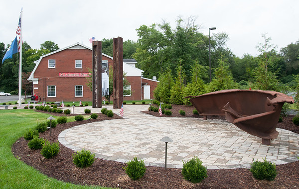 09/07/18 Wesley Bunnell | Staff The 9/11 Memorial which is due to be dedicated this Tuesday in front of the Kensington Fire Department on Farmington Ave in Berlin.