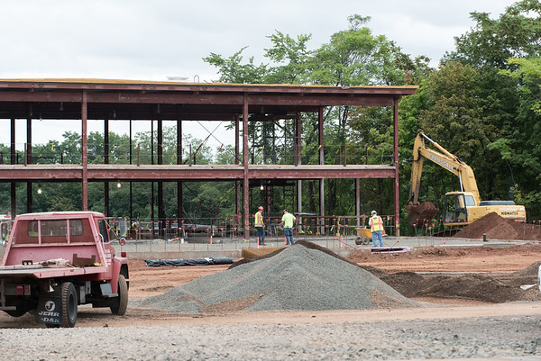 09/21/18 Wesley Bunnell | Staff Construction at Smalley School on Friday afternoon.