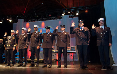 09/20/18  Wesley Bunnell | Staff  The New Britain Fire Department held their 2018 Awards Ceremony on Thursday September 20 at Trinity on Main. Seven members were promoted to Deputy Fire Chief, Captain, Lieutenant and Driver.