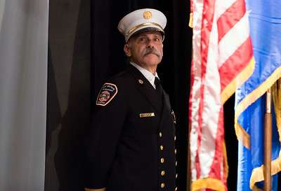 09/20/18  Wesley Bunnell | Staff  The New Britain Fire Department held their 2018 Awards Ceremony on Thursday September 20 at Trinity on Main. Master of Ceremonies Deputy Chief Paul Walsh.