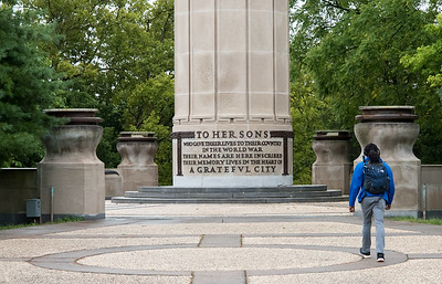 09/12/18  Wesley Bunnell | Staff  The World War I monument in Central Park.