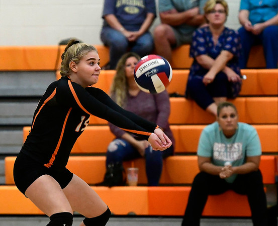 9/13/2018 Mike Orazzi | Staff Terryville's Taylor Barrett (15) during Thursday's match at Terryville High School.