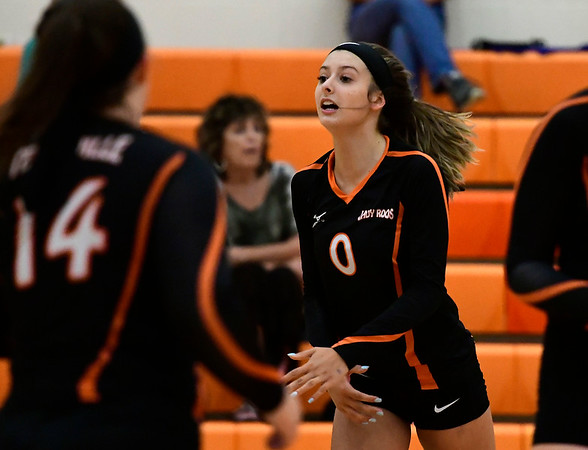 9/13/2018 Mike Orazzi | Staff Terryville's Cara Andrews (0) during Thursday's match at Terryville High School.