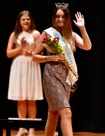 9/14/2018 Mike Orazzi | Staff Miss Mum 2018 Kayla Paulette after being chosen Friday night at the Chippens Hill Middle School.