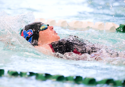 09/18/18  Wesley Bunnell | Staff  Berlin girls swimming defeated Maloney High School 92-83 on Tuesday afternoon at Maloney High School. Sadie Boyer took first place in the 100 back.