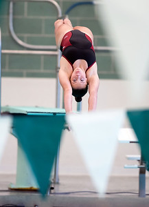 09/18/18  Wesley Bunnell | Staff  Berlin girls swimming defeated Maloney High School 92-83 on Tuesday afternoon at Maloney High School. Diver McKenna Evans.