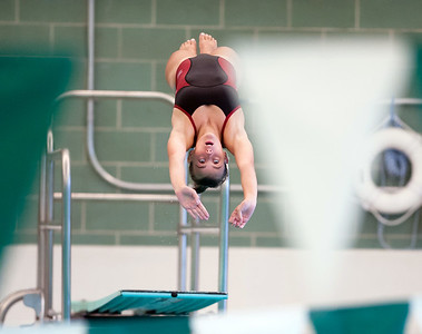 09/18/18  Wesley Bunnell | Staff  Berlin girls swimming defeated Maloney High School 92-83 on Tuesday afternoon at Maloney High School. Diver Abbie Rochette.