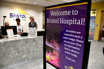9/19/2018 Mike Orazzi | Staff Visitor while entering Bristol Hospital Wednesday.