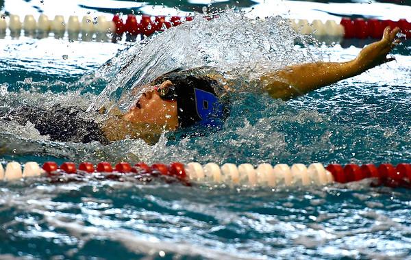 9/25/2018 Mike Orazzi | Staff Bristol Eastern's Chelsea DeMarest during Tuesday's swim meet with Windsor in Bristol.