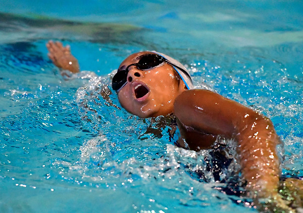 9/25/2018 Mike Orazzi | Staff Bristol Eastern's Trisha Mohan during Tuesday's swim meet with Windsor in Bristol.