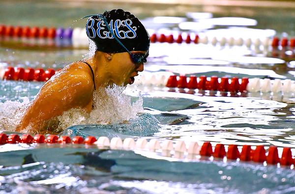 9/25/2018 Mike Orazzi | Staff Bristol Eastern's Brianna Ogonowski during Tuesday's swim meet with Windsor in Bristol.