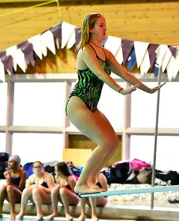 9/25/2018 Mike Orazzi | Staff Windsor's Hannah Korza during Tuesday's swim meet in Bristol.