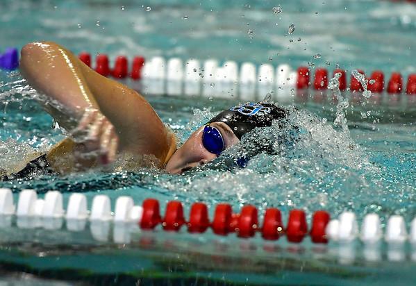 9/25/2018 Mike Orazzi | Staff Bristol Eastern's Taylor DeMarest during Tuesday's swim meet with Windsor in Bristol.