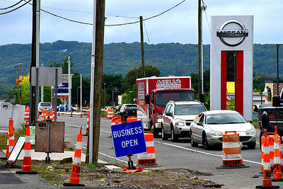 9/26/2018 Mike Orazzi | Staff Route 6 construction in Bristol between Mix Street and Camp Street Wednesday.