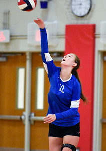 09/26/18  Wesley Bunnell | Staff  Berlin volleyball defeated Plainville on Wednesday night at Berlin High School. Wiktoria Galazyn (19).