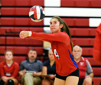 09/26/18  Wesley Bunnell | Staff  Berlin volleyball defeated Plainville on Wednesday night at Berlin High School. Lyzi Litwinko (4).