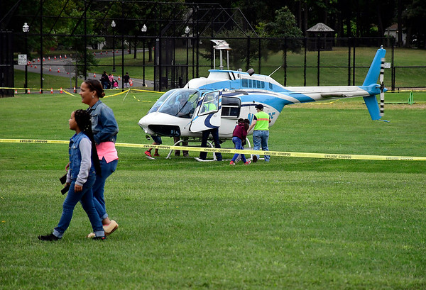 9/8/2018 Mike Orazzi | Staff Helicopter rides during Main Street USA held in New Britain's Walnut Hill Park Saturday.