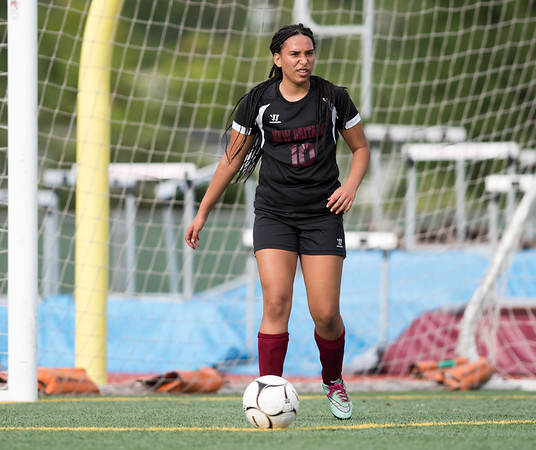 09/11/18 Wesley Bunnell | Staff New Britain girls soccer was defeated by Wethersfield 8-0 on Tuesday afternoon at Veterans Stadium. Analise Rodriguez (10).