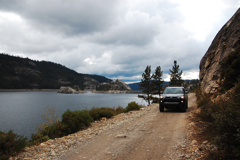Bowman Lake from Meadow Lakes Rd in the Tahoe NF.  There was about a 3 mile stretch of this road that was very rough, probably not passable in a car.  Didn't need 4WD, just ground clearance due to ruts and large, loose rocks.