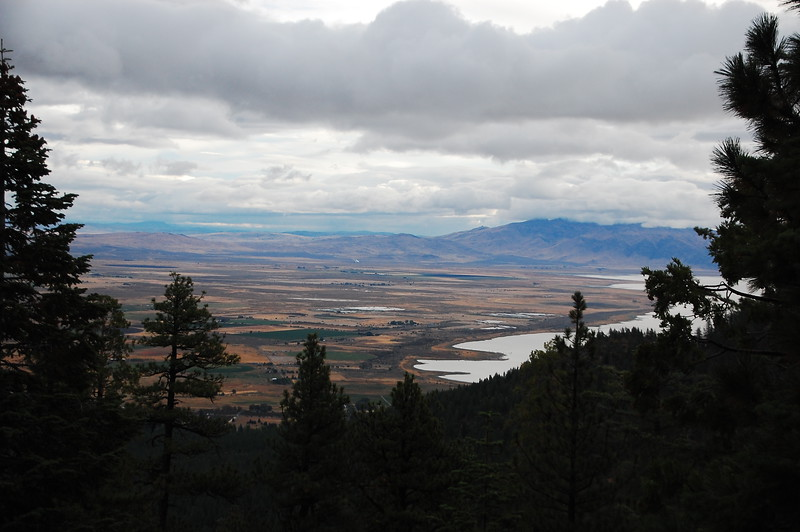 Partial view of Honey Lake and the Pyramid Valley from Janesville Grade Rd, near Janesville, CA.  The mountains in the distance are in Nevada.