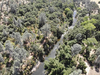 An aerial view of Big Chico Creek in upper Bidwell Park as taken on July 17 in Chico. (Matt Bates -- Enterprise-Record)