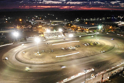 "Sprint cars race around Silver Dollar Speedway during the opening night for the 66th annual Gold Cup Race of Champions on Wednesday in Chico. Readers can submit photos for ""Hot Shot"" consideration to photo@chicoer.com. (Matt Bates -- Enterprise-Record)"