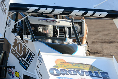 Alex Fowler, 15, waits for his turn on the track before the Gold Cup Race of Champions at the Silver Dollar Speedway on Thursday in Chico. (Matt Bates -- Enterprise-Record)