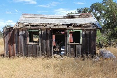 An old shed in the Valley's Edge project area, southeast of Chico. There are a cluster of ranch buildings that are not sound, in the area which would be the project's village core. While they would be torn down, the plan is to reuse whatever materials could be salvaged into new features. (Steve Schoonover -- Enterprise-Record)