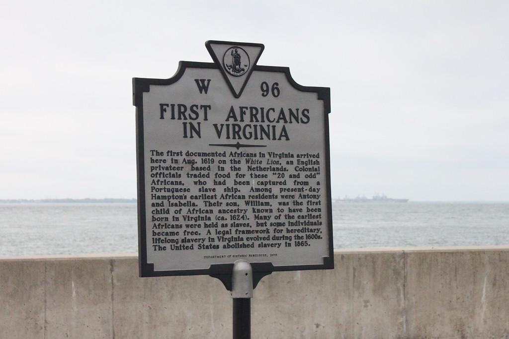 Arrival Marker, Fort Monroe