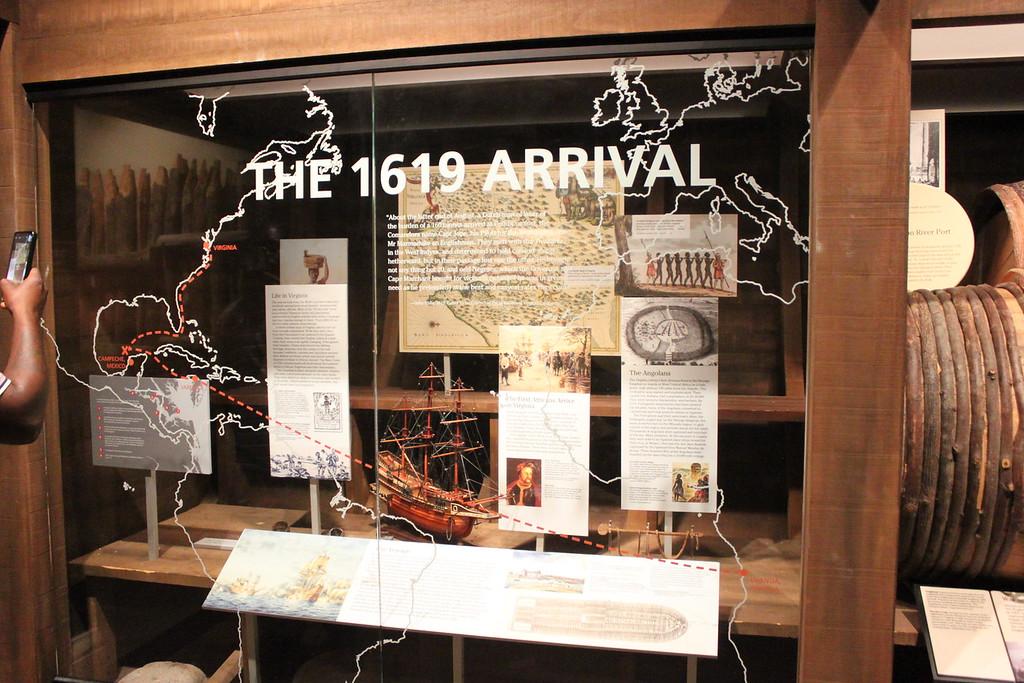 Exhibit at the Hampton History Museum