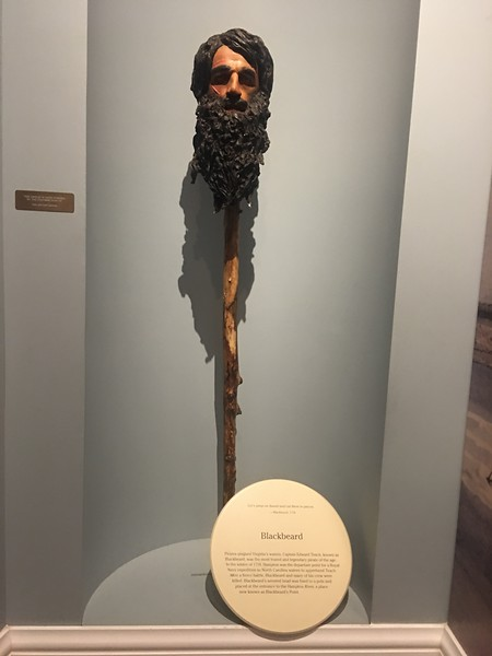 Replica of Blackbeard's Head, Hampton History Museum
