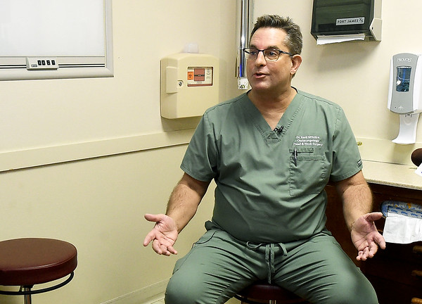 Dr. Kent McIntire talks about the Airlift system, which is an innovative procedure to treat sleep apnea in patients. Globe | Laurie Sisk