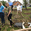 Sen. Roy Blunt walks amongst the debris in May, 2019 as he visits with those affected by the Carl Junction tornado.<br /> Globe | Laurie SIsk