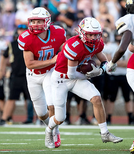 Webb City's Cade Wilson runs the ball with a gain of yards during their game on Friday evening against the Neosho Wildcats at Webb City High School. Globe|Israel Perez