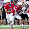 Webb City's Cade Wilson runs the ball with a gain of yards during their game on Friday evening against the Neosho Wildcats at Webb City High School.<br /> Globe|Israel Perez